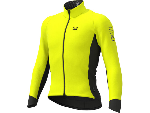 Alé Cycling Clima Protection 2.0 Wind Race Chaqueta Hombre, fluo yellow